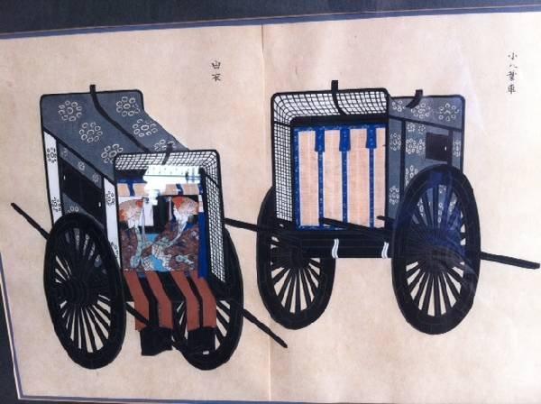 Asian ''2 Carts'' Painting