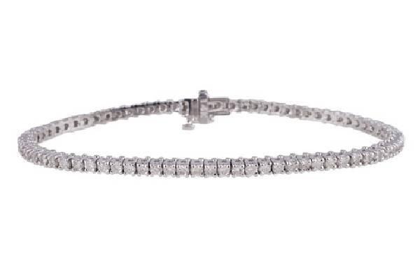 APP: 10k *14kt White Gold, 2 CT Diamond Tennis Bracelet