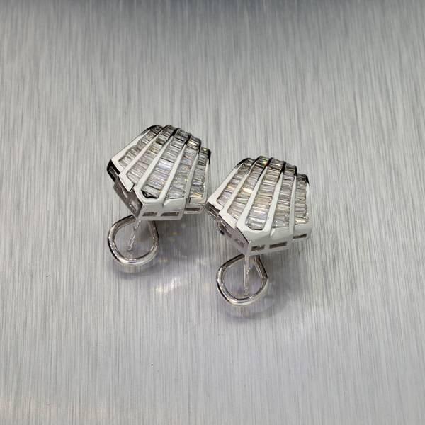 APP: 8.5k *14 kt. White Gold, 1.70CT Diamond Earrings