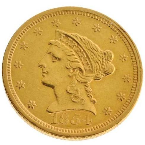 1854 $2.5 US Liberty Head Type Gold Coin - Investment