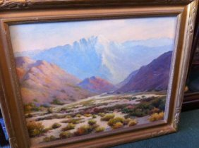 Oil On Canvas Painting By H. Sartelle - Original Frame