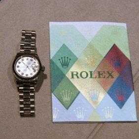 Rolex Ladies White Gold/Diamond - Original Box & Papers