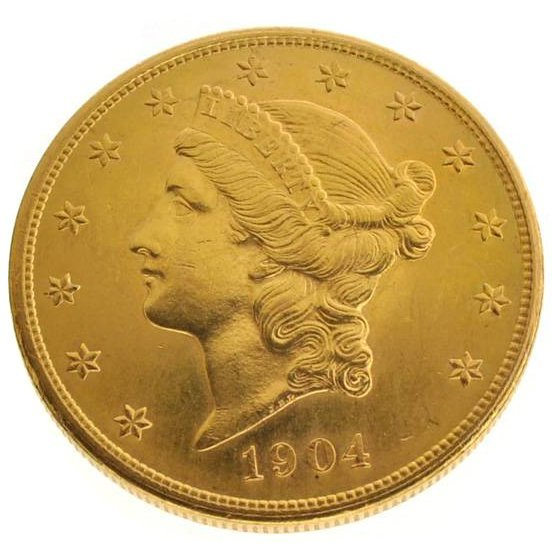 1904 $20 U.S. Liberty Head Gold Coin - Investment