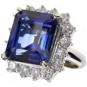 APP: 12k *14kt White Gold, Sapphire & Diamond Ring