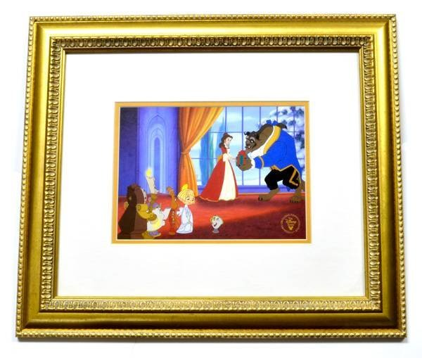 "Disney ""Beauty & The Beast"" Lithograph Museum Framed"