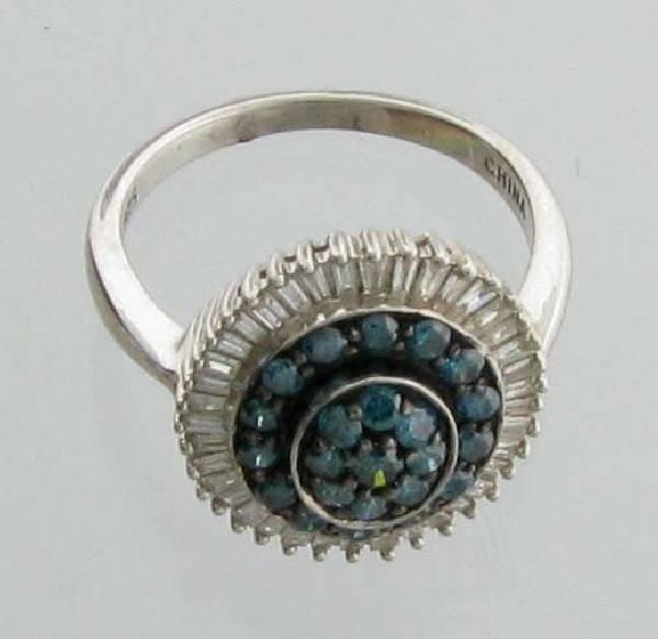 APP: 6k 1CT  Diamond Platinum Sterling Silver Ring