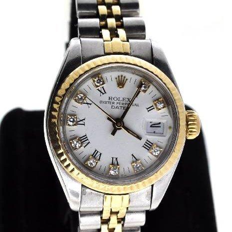 Rolex Women's Oyster Stainless Steel & Gold Watch