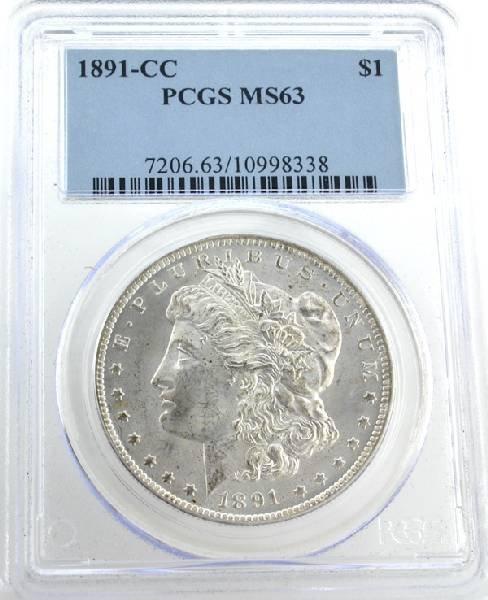 1891-CC U.S. Morgan Silver Dollar Coin - Investment