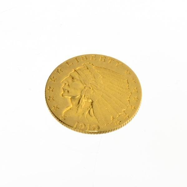 1910 $2.5 U.S. Indian Head Gold Coin - Investment