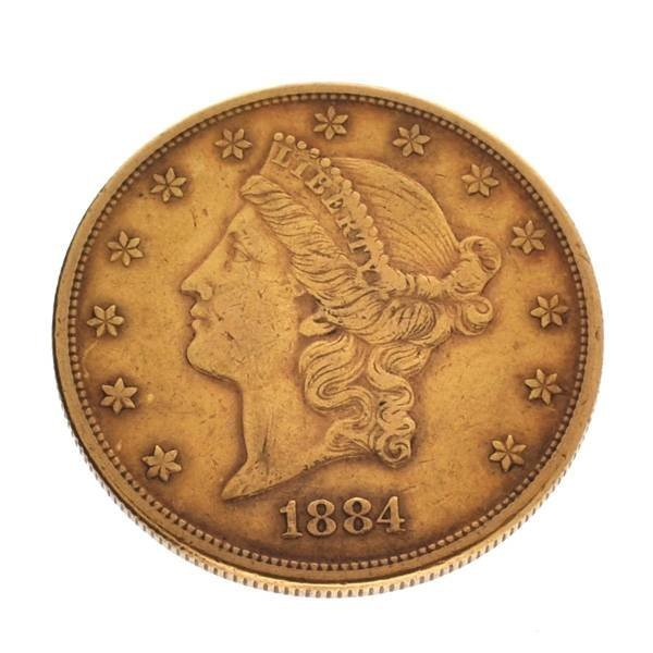 *1884-S $20 Liberty Head Gold Coin - Investment