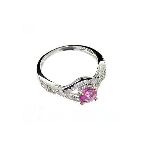APP: 5k 18kt White Gold, 0k Sapphire & 0CT Diamond Ring