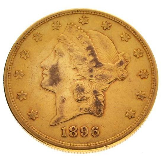 *1896-S $20 Liberty Head Gold Coin - Investment