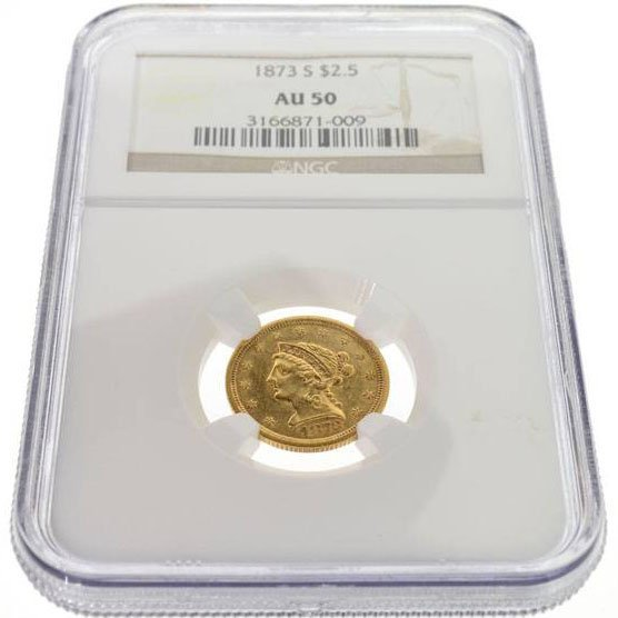 1873-S $2.5 US Liberty Head Type Gold Coin - Investment