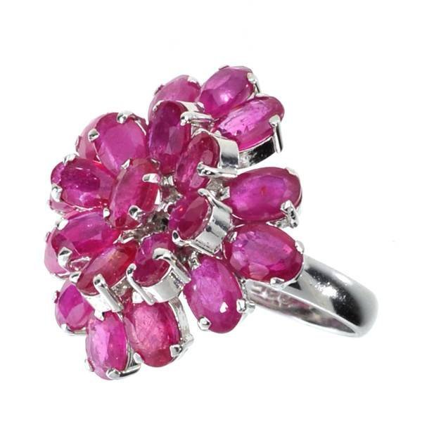 APP: 16k 12CT  Oval Cut Ruby & Sterl Silver Ring