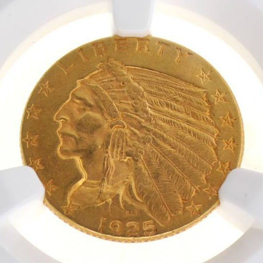 *1925 $2.5 Indian Head Gold Coin - Investment