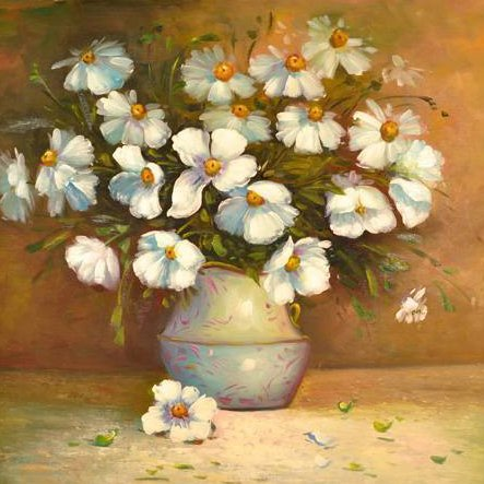 """Oil Painting- Bouquet of Flowers in Vase- 24"""" x 27"""""""