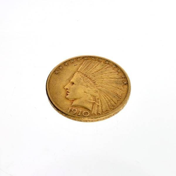 1910-S $10 U.S. Indian Head Gold Coin - Investment