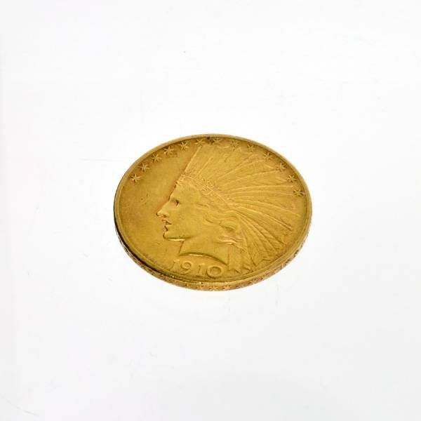 1910-D $10 U.S. Indian Head Gold Coin - Investment