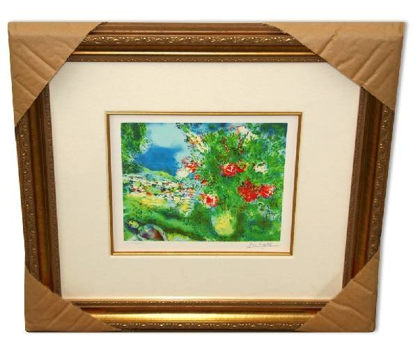 "Marc Chagall ""Paysage"" Museum Framed Giclee-Limited Edi"