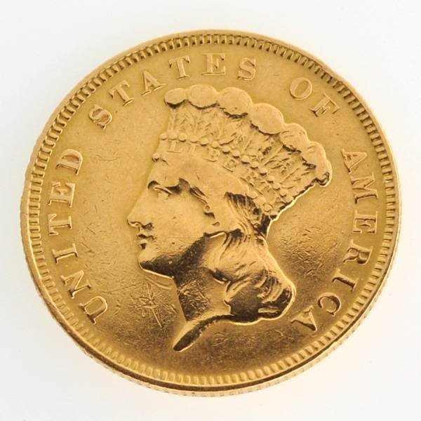 1878 $3 U.S Princess Gold Coin - Investment