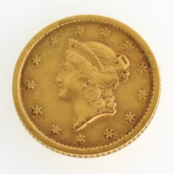 1852 $1 U.S Liberty Head Type Gold Coin - Investment