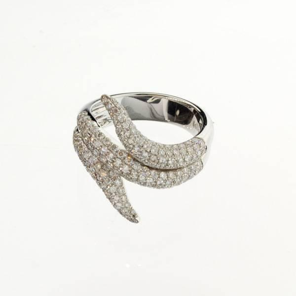 APP: 7.1k *18 kt. White Gold, 1.20CT Diamond Ring
