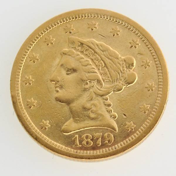 1879-S $2.5 U.S Liberty Head Type Gold Coin  Coin