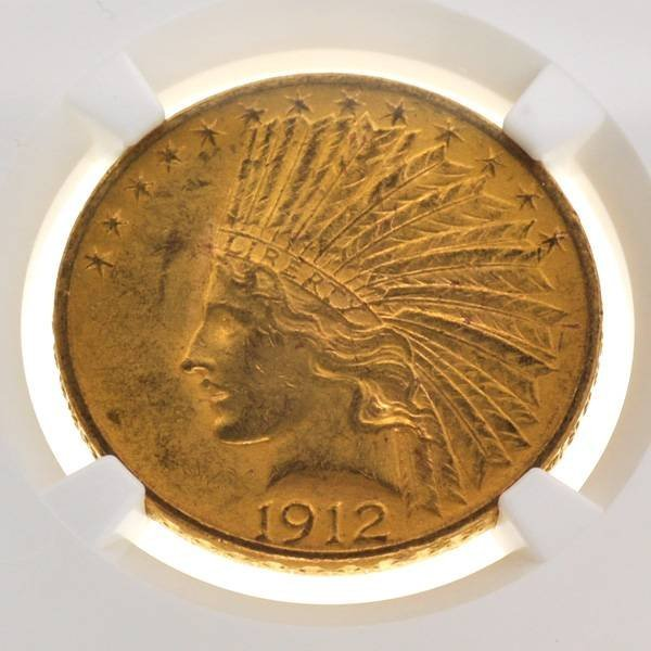 *1912 $10 Indian Head Gold Coin - Investment