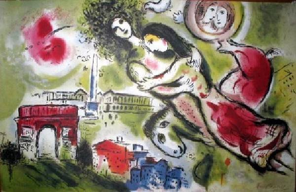 MARC CHAGALL Romeo & Juliet Print, Limited Edition