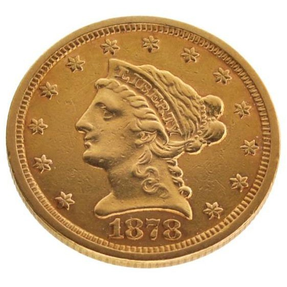 1878-S $2.5 U.S Liberty Head Type Gold Coin