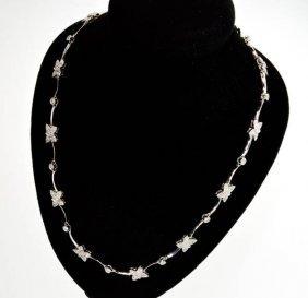 APP: 12.7k *18 kt. White Gold, 1.25CT Diamond Necklace