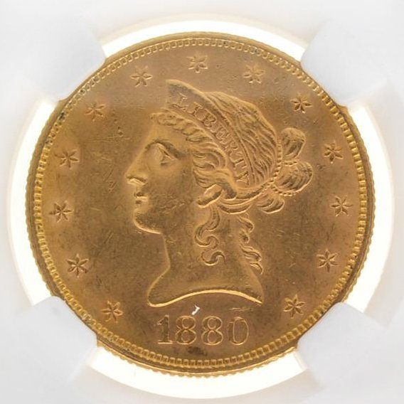 *1880 $10 Liberty Head Gold Coin - Investment