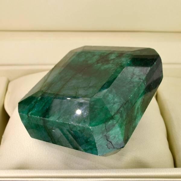 APP: 44.4k 1,708.25CT Emerald Cut Emerald Gemstone