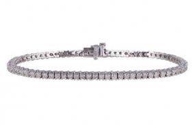 APP: 9k 14kt White Gold, 2.40CT Diamond Tennis Bracelet