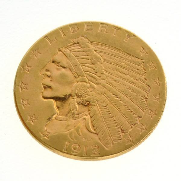 *1912 $2.5 Indian Head Gold Coin - Investment