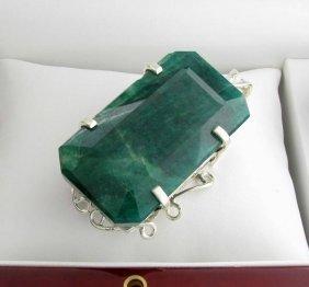 APP: 12k Sebastian 301CT Emerald & Silver Pendant