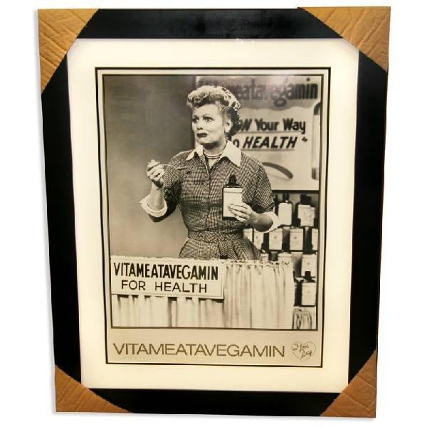 "I Love Lucy - Framed Lithograph "" Vitameatavegamin"""