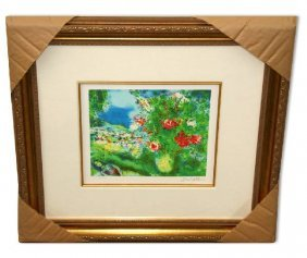 """Marc Chagall """"Paysage"""" Museum Framed Giclee-Limited Edi"""