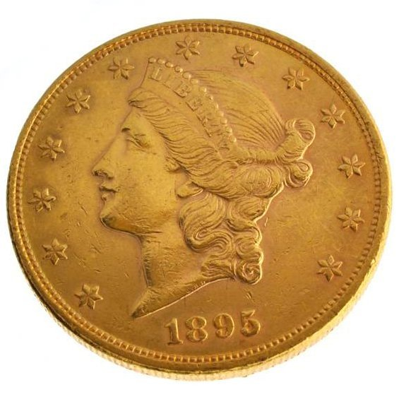 1895 $20 U.S Liberty Head Type Gold Coin - Investment