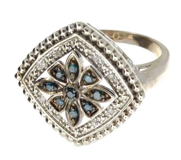 APP: 1k 0CT  Round Cut Diamond Plat & Sterl Silver Ring
