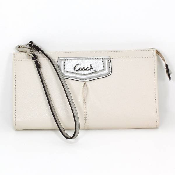 Coach Ivory Silver Ashley Leather Wallet