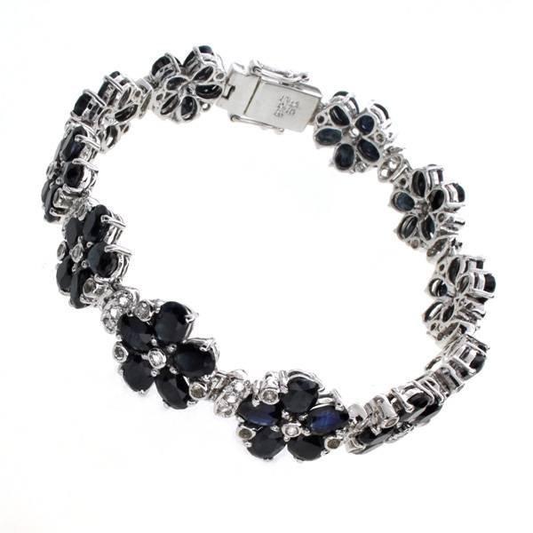 APP: 12k 23CT  Sapphire & Topaz Sterl Silver Bracelet