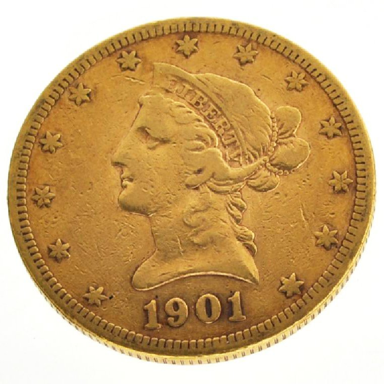 1901-S $10 U.S Liberty Head Type Gold Coin - Investment