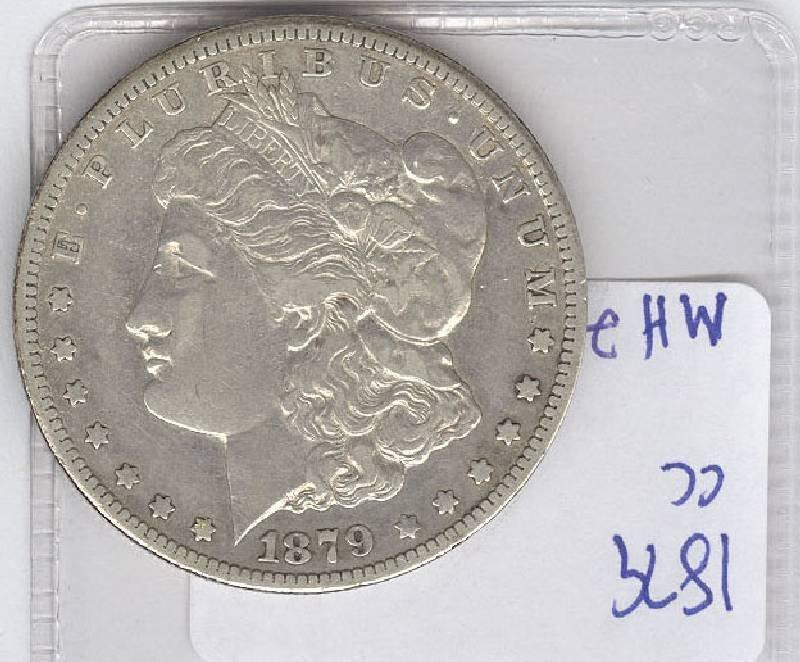 1879-CC Morgan Dollar Raw Coin - Investment