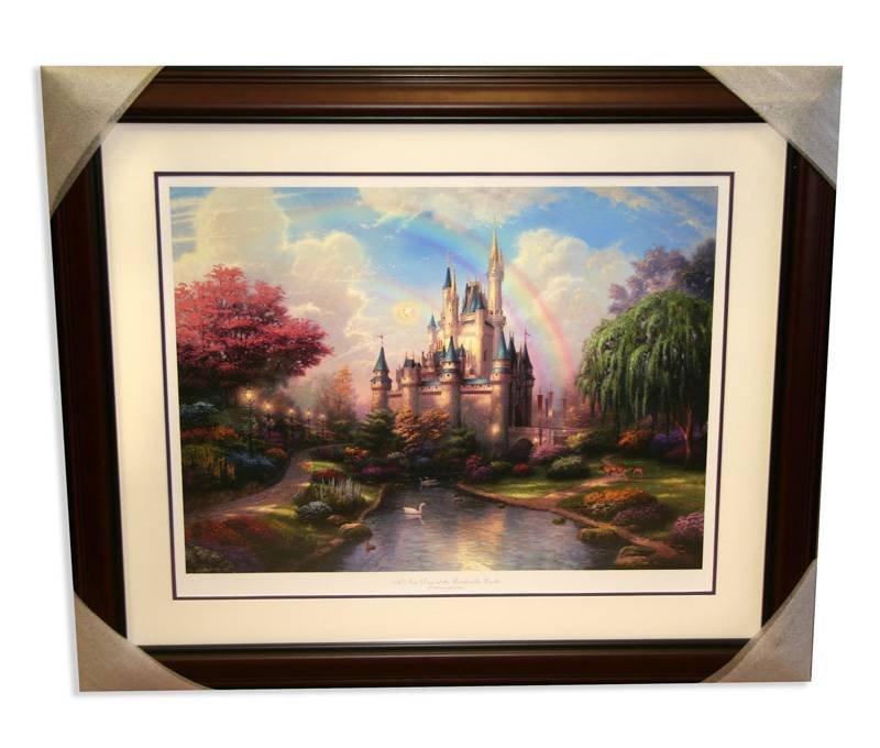 "Thomas Kinkade Framed ""New Day at Cinderella's Castle"""