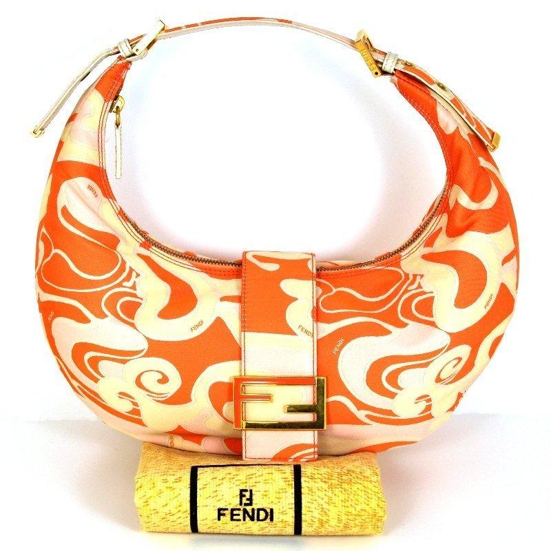 Fendi Peach Cream Shoulder Bag
