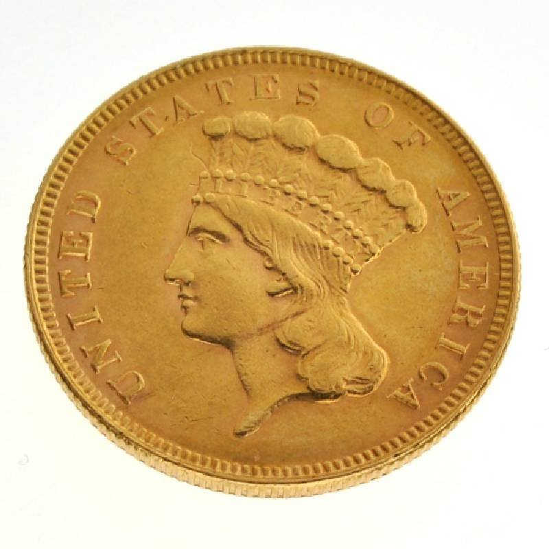 *1889 $3 Indian Head Gold Coin - Investment