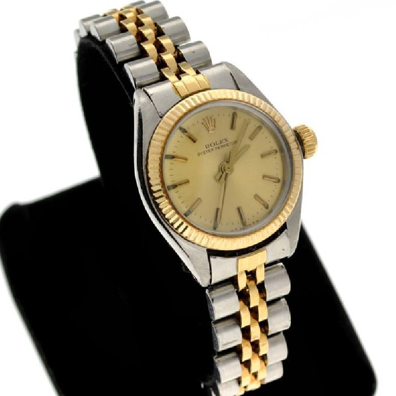 Rolex Women's Oyster Stainless Steel & Gold Watch