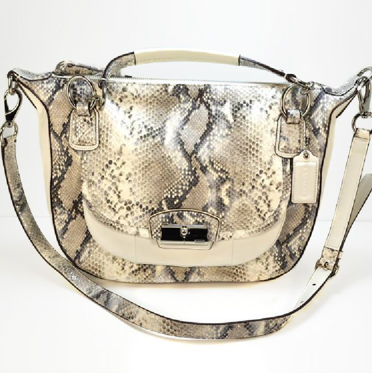 Authentic Python Skin Top of the Line Coach Purse