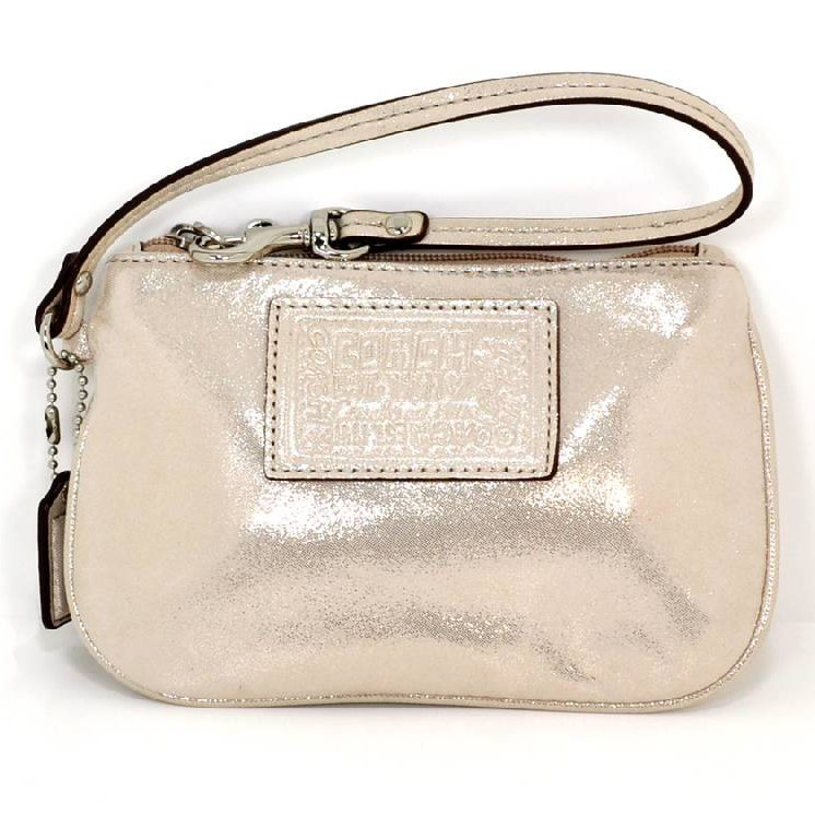 Coach Champagne Leather Small Wristlet
